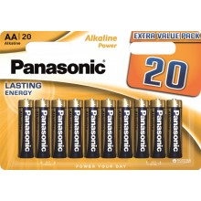 Panasonic Alkaline Power AA BLI 20 (LR6REB/20BW)